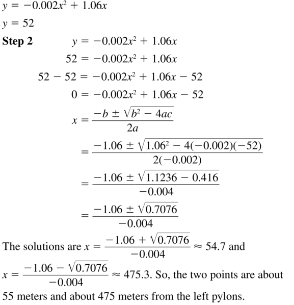 Big Ideas Math Algebra 1 Answer Key Chapter 9 Solving Quadratic Equations 9.6 a 51