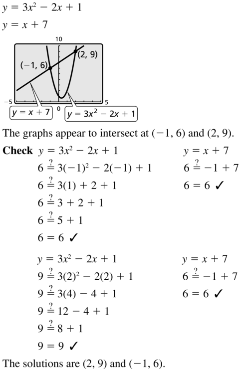 Big Ideas Math Algebra 1 Answer Key Chapter 9 Solving Quadratic Equations 9.6 a 7