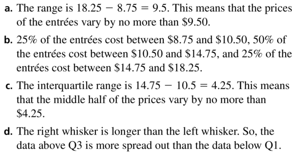 Big Ideas Math Algebra 1 Answers Chapter 11 Data Analysis and Displays 11.2 a 15