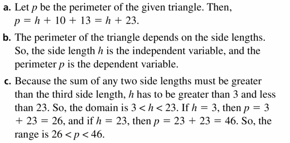 Big Ideas Math Algebra 1 Answers Chapter 3 Graphing Linear Functions 3.1 Question 39
