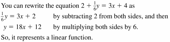 Big Ideas Math Algebra 1 Answers Chapter 3 Graphing Linear Functions 3.2 Question 21