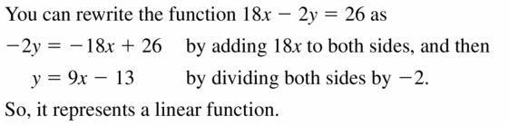 Big Ideas Math Algebra 1 Answers Chapter 3 Graphing Linear Functions 3.2 Question 23