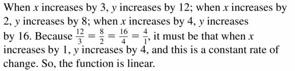Big Ideas Math Algebra 1 Answers Chapter 3 Graphing Linear Functions 3.2 Question 51