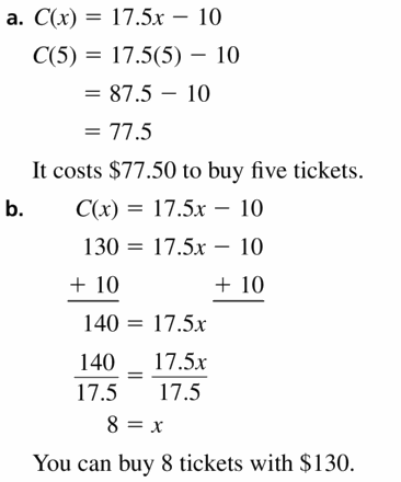 Big Ideas Math Algebra 1 Answers Chapter 3 Graphing Linear Functions 3.3 Question 21
