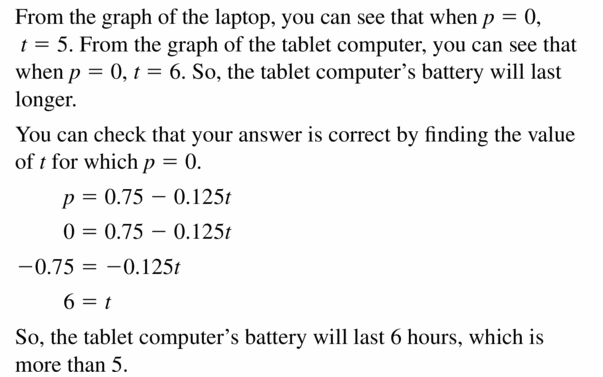 Big Ideas Math Algebra 1 Answers Chapter 3 Graphing Linear Functions 3.3 Question 29.2