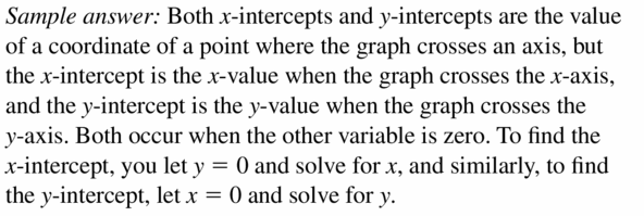 Big Ideas Math Algebra 1 Answers Chapter 3 Graphing Linear Functions 3.4 Question 1
