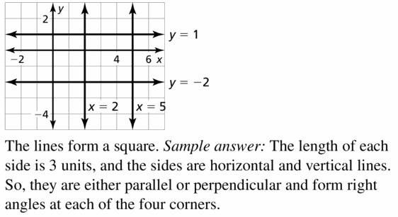 Big Ideas Math Algebra 1 Answers Chapter 3 Graphing Linear Functions 3.4 Question 33