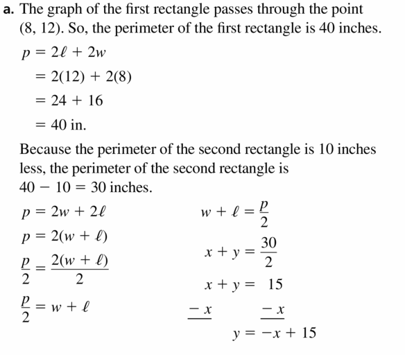 Big Ideas Math Algebra 1 Answers Chapter 3 Graphing Linear Functions 3.5 Question 43.1