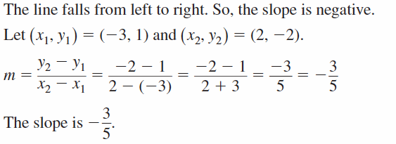 Big Ideas Math Algebra 1 Answers Chapter 3 Graphing Linear Functions 3.5 Question 5