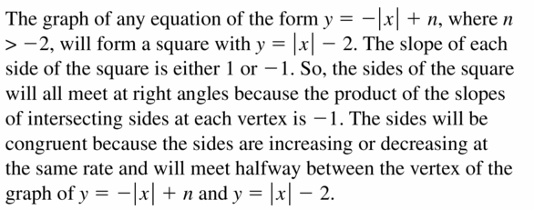 Big Ideas Math Algebra 1 Answers Chapter 3 Graphing Linear Functions 3.7 Question 47