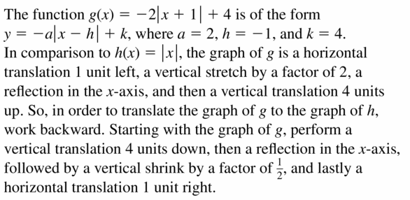 Big Ideas Math Algebra 1 Answers Chapter 3 Graphing Linear Functions 3.7 Question 59