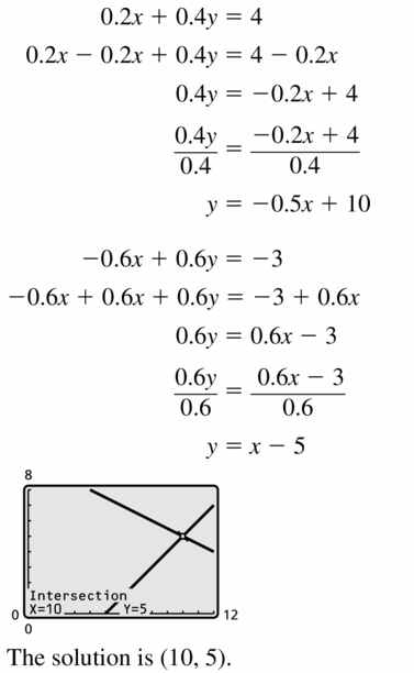 Big Ideas Math Algebra 1 Answers Chapter 5 Solving Systems of Linear Equations 5.1 Question 23