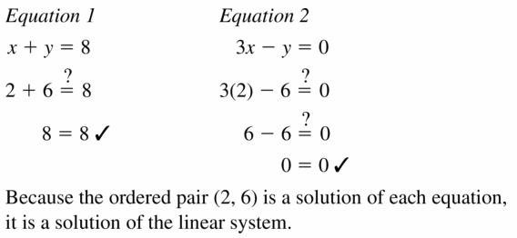 Big Ideas Math Algebra 1 Answers Chapter 5 Solving Systems of Linear Equations 5.1 Question 3