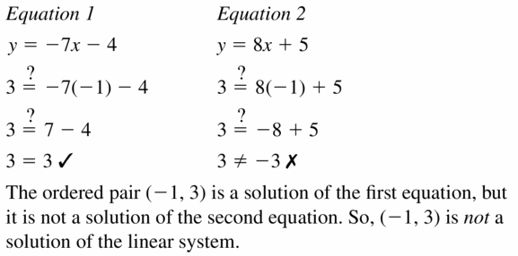 Big Ideas Math Algebra 1 Answers Chapter 5 Solving Systems of Linear Equations 5.1 Question 5