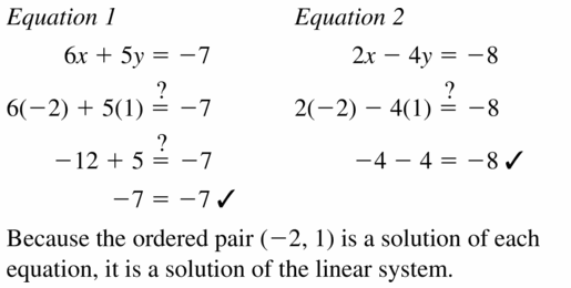 Big Ideas Math Algebra 1 Answers Chapter 5 Solving Systems of Linear Equations 5.1 Question 7