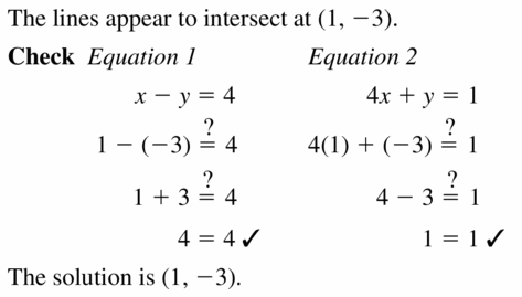 Big Ideas Math Algebra 1 Answers Chapter 5 Solving Systems of Linear Equations 5.1 Question 9