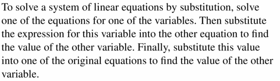 Big Ideas Math Algebra 1 Answers Chapter 5 Solving Systems of Linear Equations 5.2 Question 1