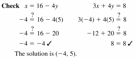 Big Ideas Math Algebra 1 Answers Chapter 5 Solving Systems of Linear Equations 5.2 Question 11.2