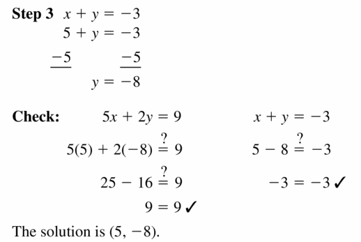 Big Ideas Math Algebra 1 Answers Chapter 5 Solving Systems of Linear Equations 5.2 Question 15.2