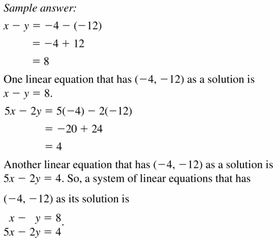 Big Ideas Math Algebra 1 Answers Chapter 5 Solving Systems of Linear Equations 5.2 Question 23
