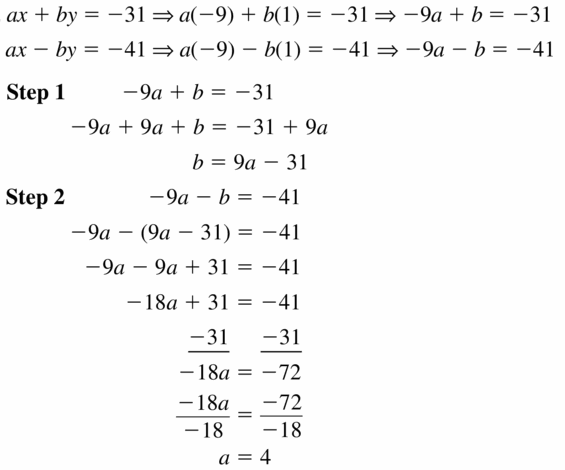 Big Ideas Math Algebra 1 Answers Chapter 5 Solving Systems of Linear Equations 5.2 Question 29.1