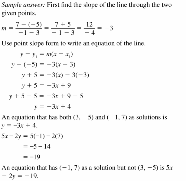 Big Ideas Math Algebra 1 Answers Chapter 5 Solving Systems of Linear Equations 5.2 Question 31.1