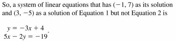 Big Ideas Math Algebra 1 Answers Chapter 5 Solving Systems of Linear Equations 5.2 Question 31.2