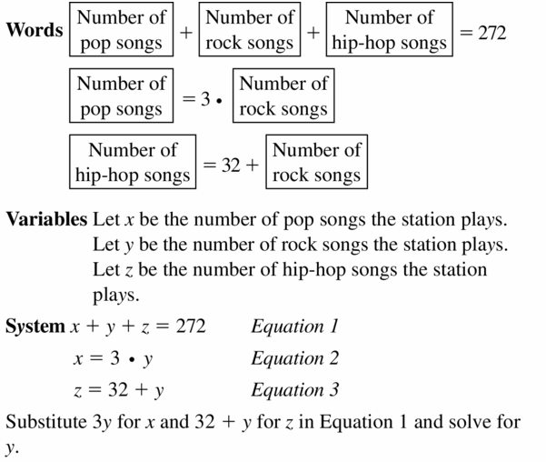 Big Ideas Math Algebra 1 Answers Chapter 5 Solving Systems of Linear Equations 5.2 Question 33.1