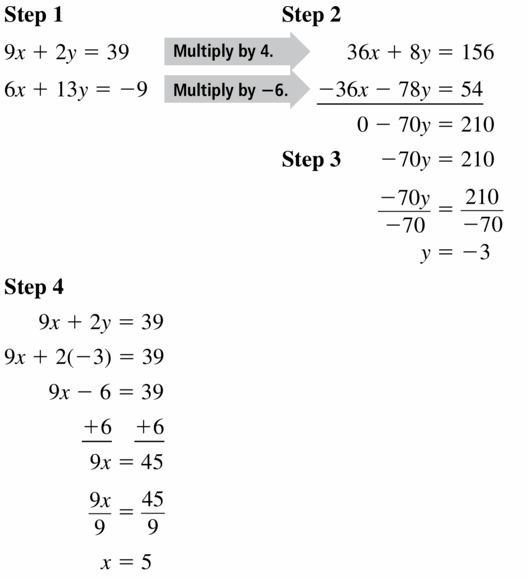 Big Ideas Math Algebra 1 Answers Chapter 5 Solving Systems of Linear Equations 5.3 Question 17.1