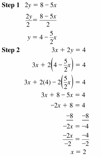 Big Ideas Math Algebra 1 Answers Chapter 5 Solving Systems of Linear Equations 5.3 Question 23.1