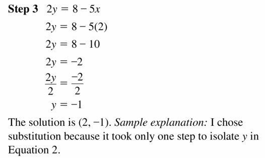 Big Ideas Math Algebra 1 Answers Chapter 5 Solving Systems of Linear Equations 5.3 Question 23.2