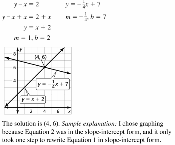 Big Ideas Math Algebra 1 Answers Chapter 5 Solving Systems of Linear Equations 5.3 Question 25