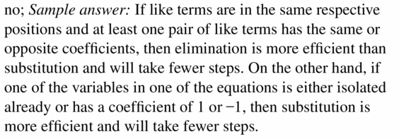 Big Ideas Math Algebra 1 Answers Chapter 5 Solving Systems of Linear Equations 5.3 Question 29