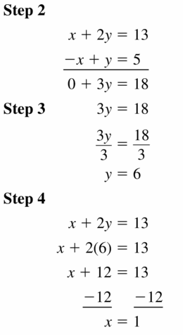 Big Ideas Math Algebra 1 Answers Chapter 5 Solving Systems of Linear Equations 5.3 Question 3.1