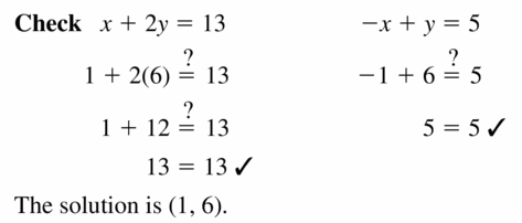 Big Ideas Math Algebra 1 Answers Chapter 5 Solving Systems of Linear Equations 5.3 Question 3.2
