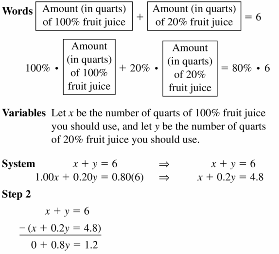 Big Ideas Math Algebra 1 Answers Chapter 5 Solving Systems of Linear Equations 5.3 Question 33.1
