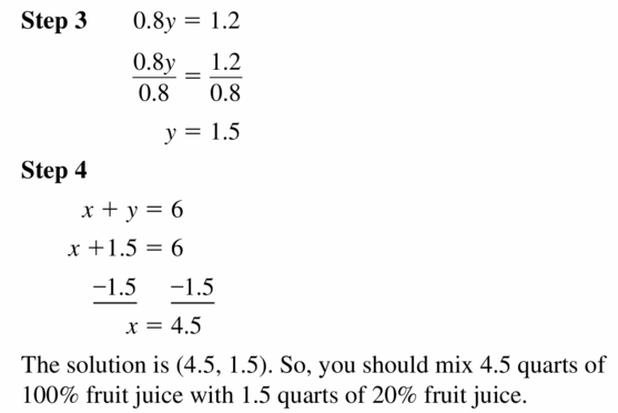 Big Ideas Math Algebra 1 Answers Chapter 5 Solving Systems of Linear Equations 5.3 Question 33.2
