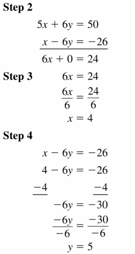Big Ideas Math Algebra 1 Answers Chapter 5 Solving Systems of Linear Equations 5.3 Question 5.1