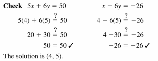 Big Ideas Math Algebra 1 Answers Chapter 5 Solving Systems of Linear Equations 5.3 Question 5.2