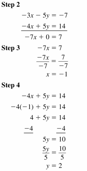Big Ideas Math Algebra 1 Answers Chapter 5 Solving Systems of Linear Equations 5.3 Question 7.1