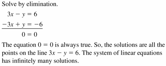 Big Ideas Math Algebra 1 Answers Chapter 5 Solving Systems of Linear Equations 5.4 Question 11