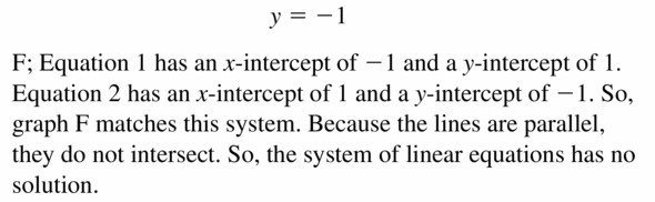 Big Ideas Math Algebra 1 Answers Chapter 5 Solving Systems of Linear Equations 5.4 Question 2.2