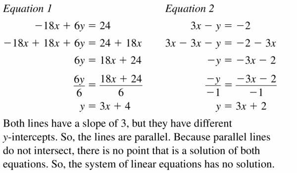 Big Ideas Math Algebra 1 Answers Chapter 5 Solving Systems of Linear Equations 5.4 Question 21