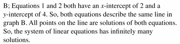 Big Ideas Math Algebra 1 Answers Chapter 5 Solving Systems of Linear Equations 5.4 Question 3.2
