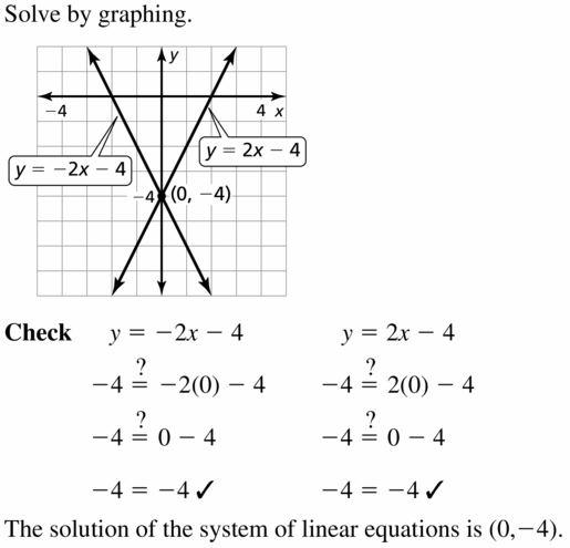 Big Ideas Math Algebra 1 Answers Chapter 5 Solving Systems of Linear Equations 5.4 Question 9