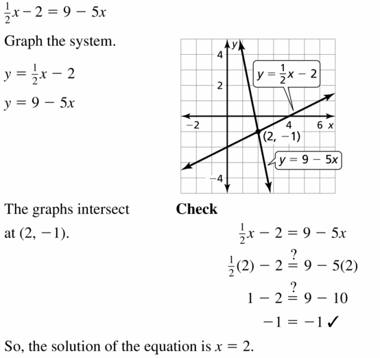 Big Ideas Math Algebra 1 Answers Chapter 5 Solving Systems of Linear Equations 5.5 Question 11