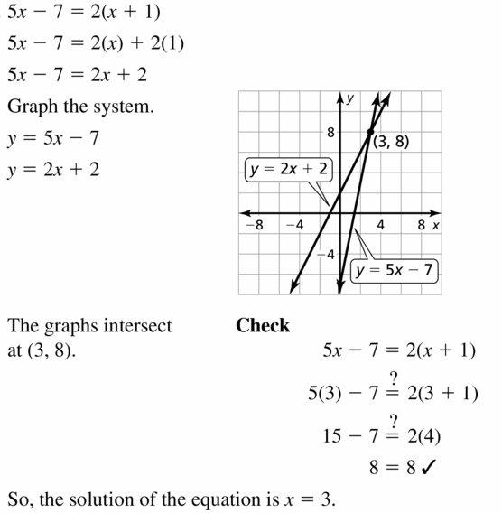 Big Ideas Math Algebra 1 Answers Chapter 5 Solving Systems of Linear Equations 5.5 Question 13