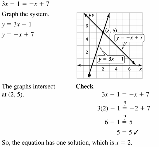 Big Ideas Math Algebra 1 Answers Chapter 5 Solving Systems of Linear Equations 5.5 Question 15