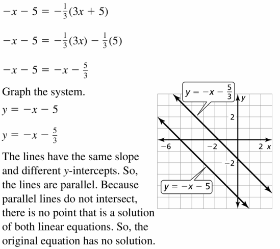 Big Ideas Math Algebra 1 Answers Chapter 5 Solving Systems of Linear Equations 5.5 Question 19