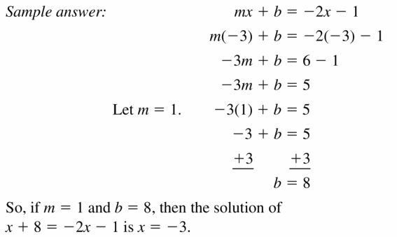 Big Ideas Math Algebra 1 Answers Chapter 5 Solving Systems of Linear Equations 5.5 Question 37